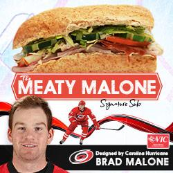 Carolina Hurricanes forward Brad Malone to debut his personally designed Signature Sub Sandwich at Harris Teeter