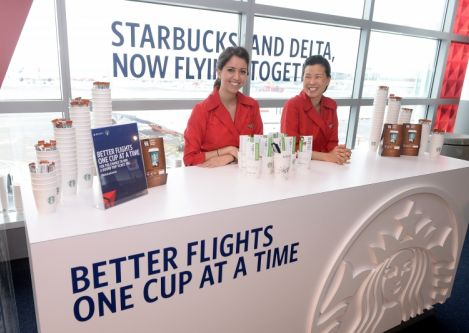 Delta extends existing service of Starbucks® coffee onboard every Delta and Delta Connection flight around the globe