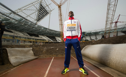 Double Olympic Champion Mo Farah returned to the former Olympic Stadium to launch the Sainsbury's Anniversary Games