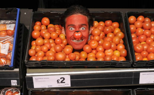 Red Nose Day campaign at Sainsbury's with Spencer Matthews