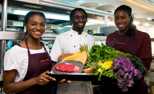 "Sainsbury's: Olympic gold medallist Christine Ohuruogu and world junior champion Dina Asher-Smith  tested the ""perfect meal for an athlete"" in london"