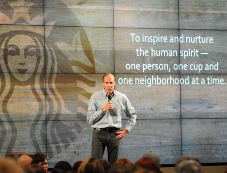 Starbucks Troy Alstead offers a few words of advice to Starbucks partners who are just beginning their careers