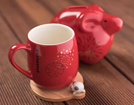 Starbucks stores help celebrate Lunar New Year with new card designs, mugs, tumblers and other merchandise in Asian markets