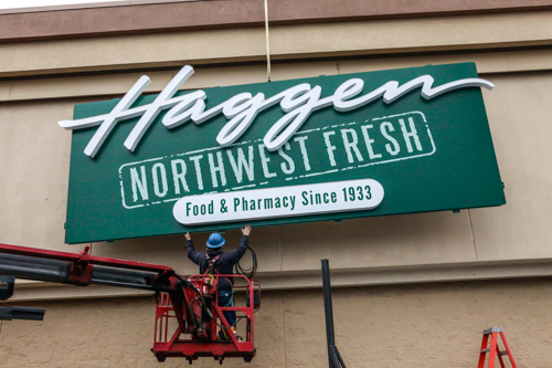 Haggen opens the first of 20 stores in Oregon it plans to acquire and convert to the Haggen brand in the first half of 2015