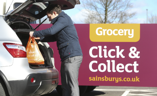 Sainsbury's introduces click and collect service to give customers quick and convenient option to pick up the shopping they've ordered online