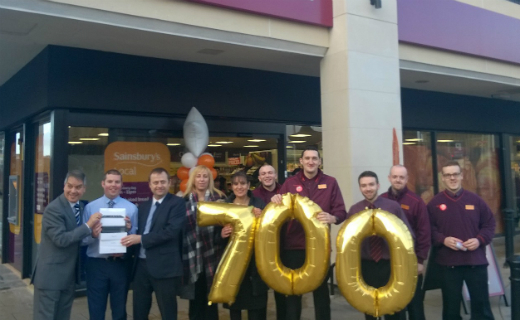 Sainsbury's opened its 700th convenience store this week; created 25 new jobs for the community
