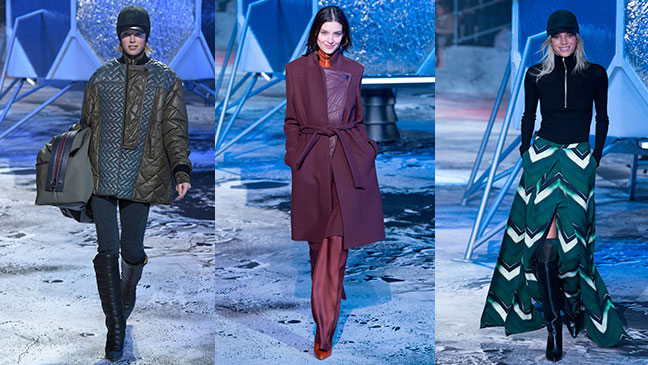Sport and futurism themes at H&M Studio show for autumn/winter 2015 held at the Grand Palais in Paris
