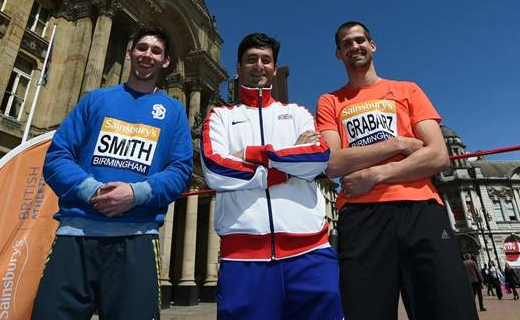 Two of Britain's top high jump athletes treated the crowd to a unique training session in Birmingham's Victoria Square ahead of Sainsbury's Summer Series