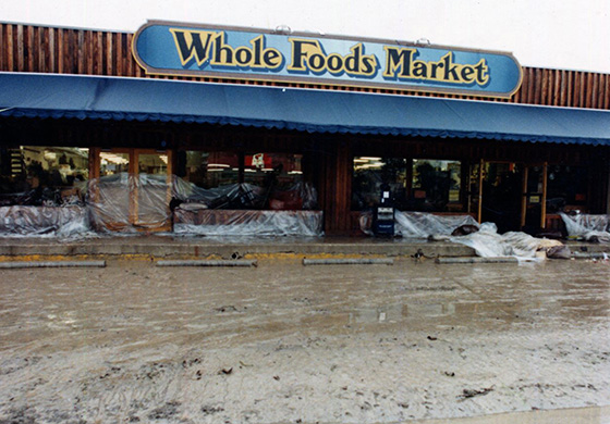 Whole Foods Market after the 1981 Memorial Day flood in Austin