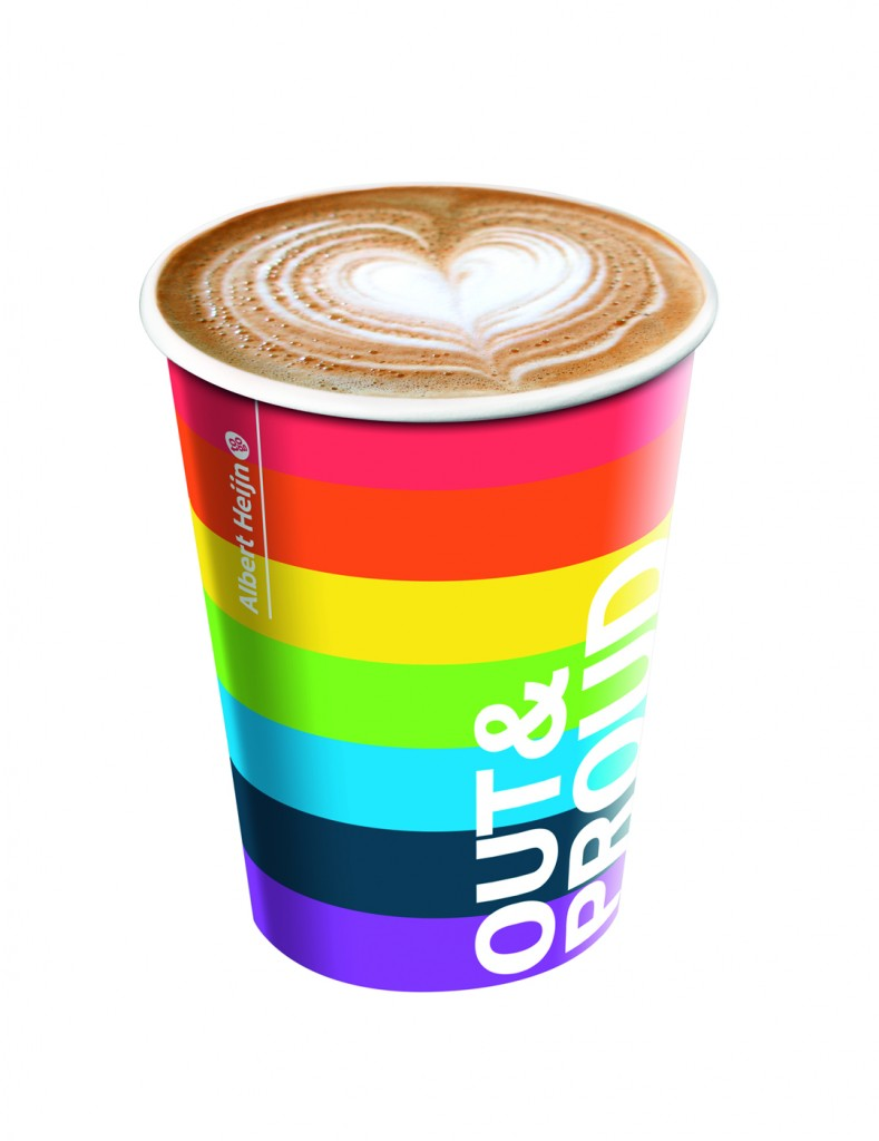 Albert Heijn to go is AH to gay and supports foundation Amsterdam Gay Pride