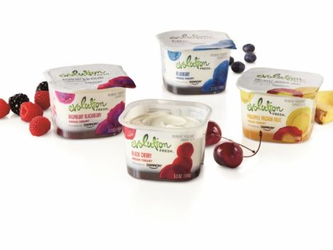 Evolution Fresh™ Fruit on the Bottom Greek Yogurts, Inspired by Dannon now available in grocery stores nationwide