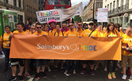 Sainsbury's colleagues in Brighton to transform stores with balloons and bunting for this year's Brighton Pride parade