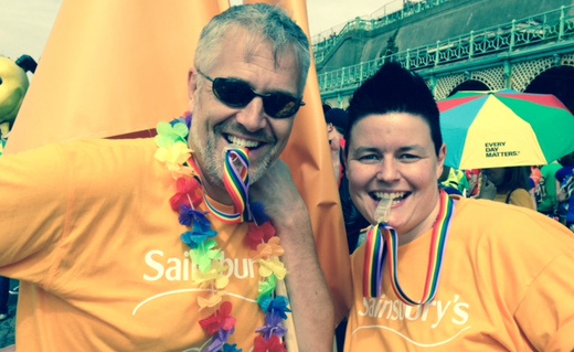 Sainsbury's supports the Parade stage in Millennium Square at this year's Leeds Pride event