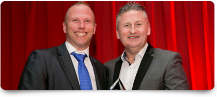 Topaz wins two of the key awards at the Irish Sales Champion awards 2015 in Dublin