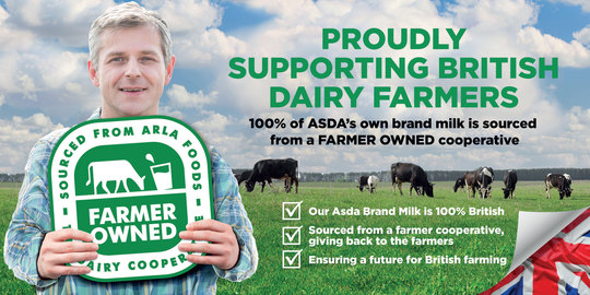 Arla Foods UK confirms that Asda's increased price that it pays for milk will be shared directly with its farmer owners