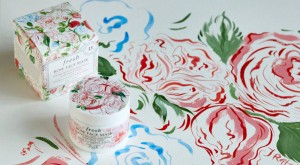 Fresh invited multimedia illustrator Jo Ratcliffe to revisit the packaging of the Rose Face Mask to celebrate its 15th anniversary