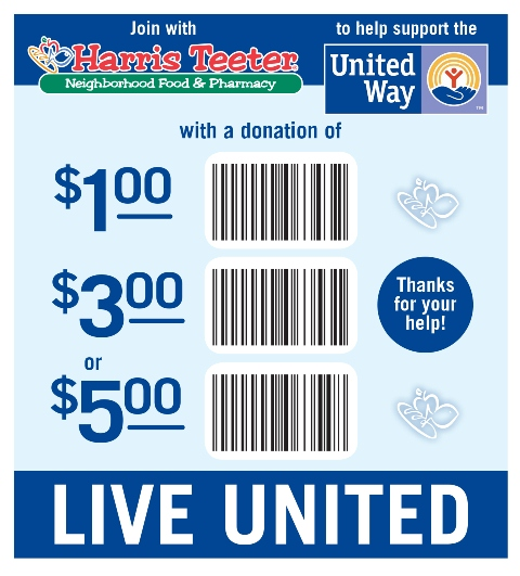 Harris Teeter launched a donation card campaign to support United Way