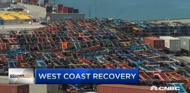 National Retail Federation Vice President Jonathan Gold appeared on CNBC to discuss the progress the ports have seen since the West Coast labor disputes have been reconciled. Watch the full interview.