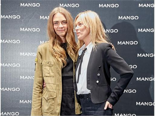 Cara Delevingne and Kate Moss for MANGO in Milan