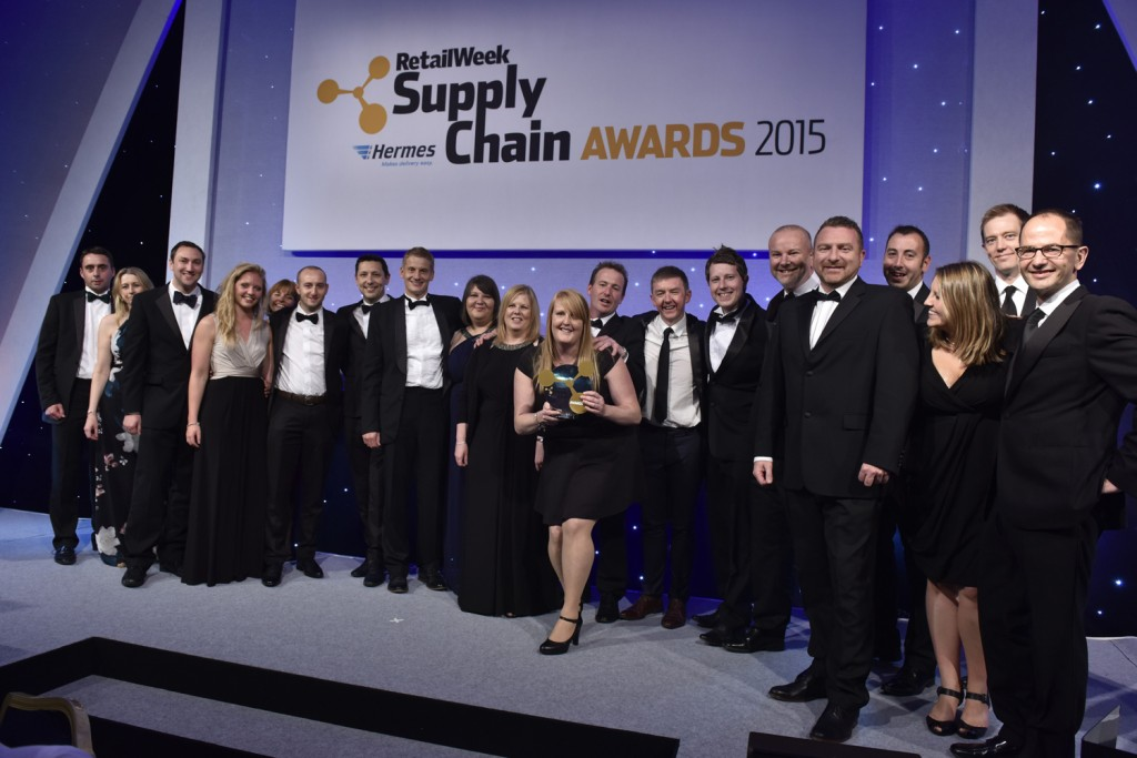 Screwfix awarded the title of Supply Chain Team of the Year at the Retail Week Supply Chain Awards 2015 in London