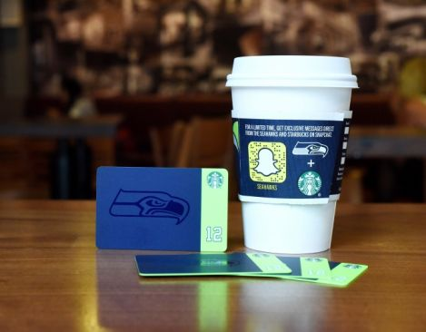Starbucks and the Seattle Seahawks to offer a limited-edition gift card