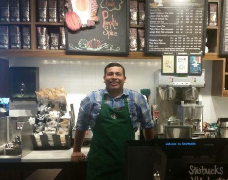 Starbucks barista Eric Calderon becomes popular dancing in a viral video