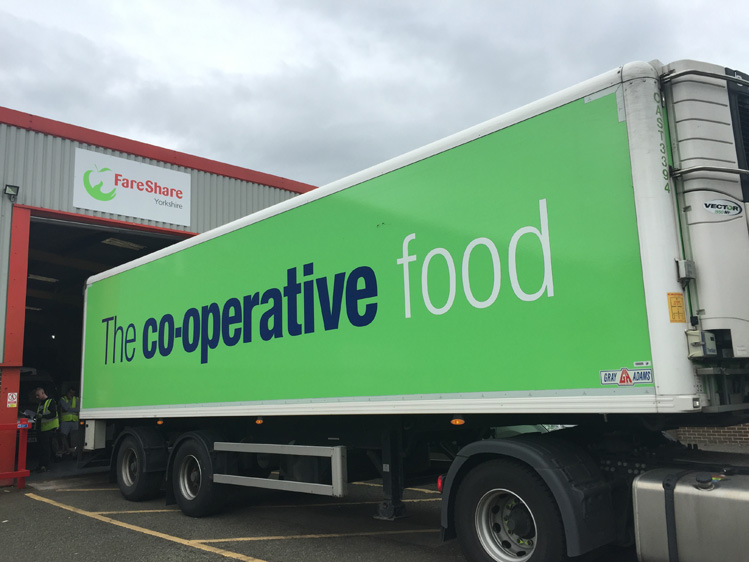 The Co-operative Food to donate its warehouse depot surplus food to local charities