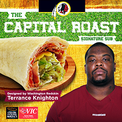 Washington Redskins Terrance Knighton to debut his Signature Sub Sandwich at Harris Teeter on Oct. 5, 2015