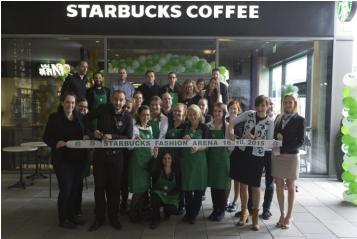 AmRest opens Starbucks Fashion Arena in Prague; its 100th Starbucks location
