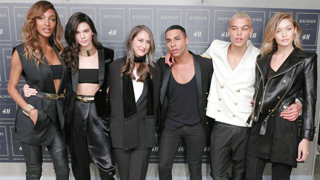Balmain x H&M collection made its global runway debut on Wall Street in New York