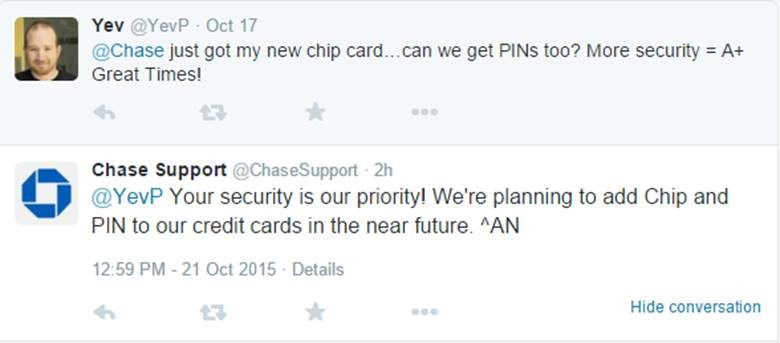 Chase Support Chip and PIN