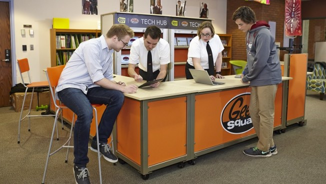 First-ever Geek Squad Technology Hub opened this week at Edina High School in suburban Minneapolis