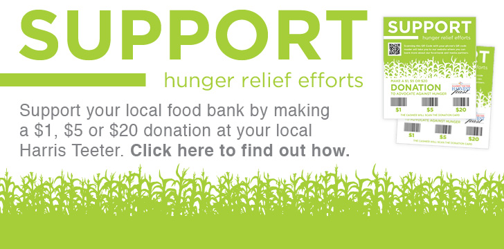 Harris Teeter continues its annual Harvest Feast Food Drive and Donation Card Campaign to aid local hunger-relief efforts