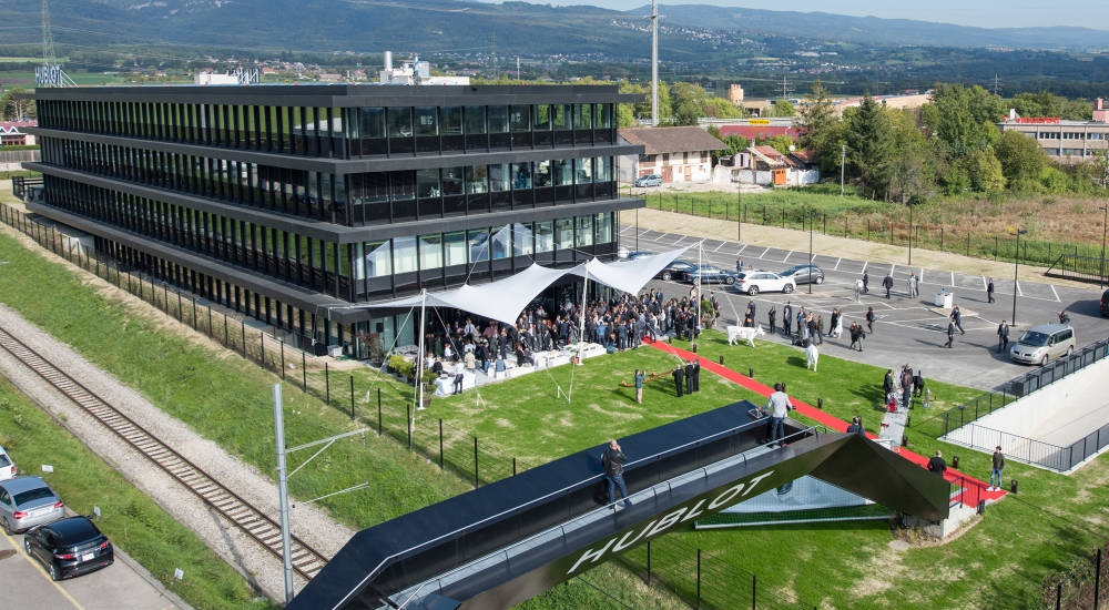 Hublot inaugurates second manufacturing building at its production center in Nyon, Switzerland