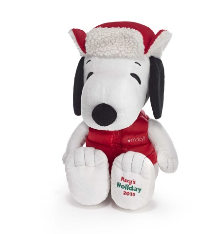 """This Holiday Season, PEANUTS(R) is the word at Macy's as the retailer partners with the iconic entertainment brand in celebration of its 65th anniversary and the 50th anniversary of the holiday classic """"A Charlie Brown Christmas."""" As part of the collaboration, a new Snoopy collectible plush will be available at stores nationwide, starting Nov. 2. (Photo: Business Wire)"""