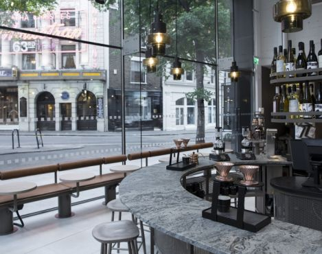 New Starbucks store opens in London's bustling Covent Garden district