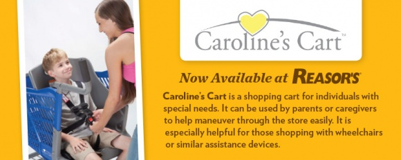 Reasor's announces the availability of Caroline's Carts at each of their locations