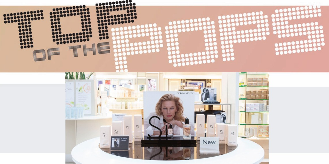 Retail Focus noted Kesslers & L'Oréal as 'Top-of-the-POPs' for their Giorgio Armani Si point-of-purchase display range
