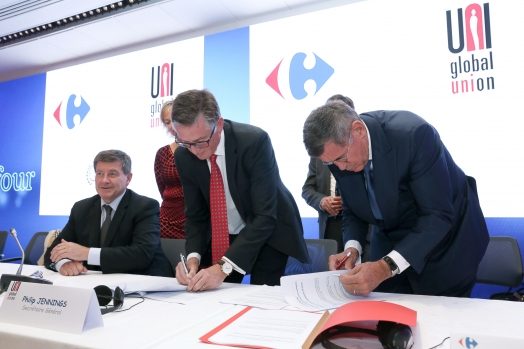 The Carrefour group and trade union Federation UNI Global Union to promote Social dialogue and Diversity in the workplace