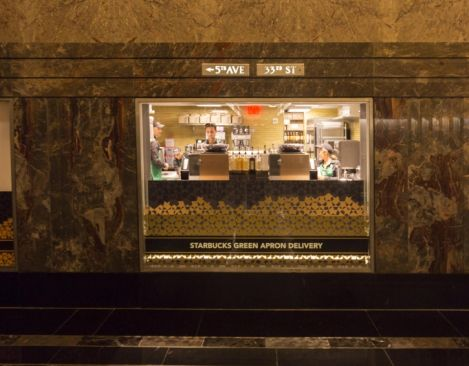 The Empire State Building becomes home to the first Starbucks Green Apron Delivery service