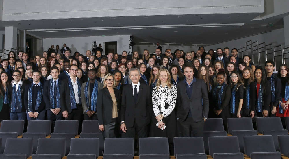 The Fondation Louis Vuitton invited 2nd class of students in LVMH Institut des Métiers d'Excellence (IME) vocational training program