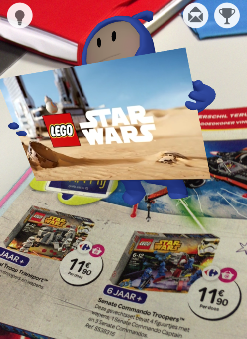 Breaking new ground: Carrefour features 500 augmented reality toys in its first ever catalogue in Belgium