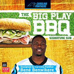Carolina Panthers' cornerback Bené Benwikere to debut his personally designed signature sub sandwich at Harris Teeter on Nov. 10