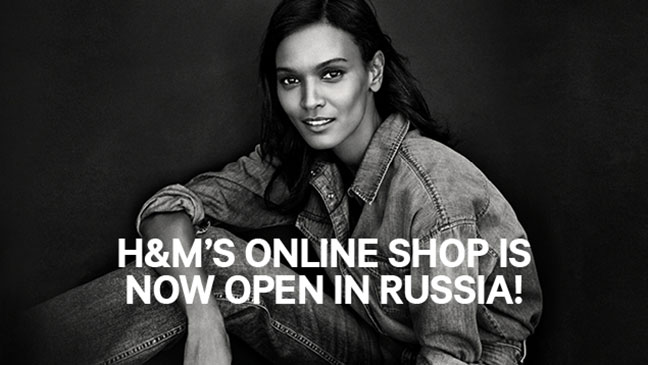 H&M opens online store in Russia