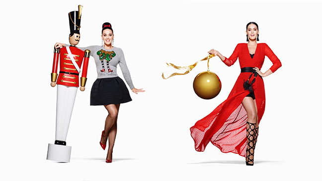 H&M releases the first images of Katy Perry's Holiday print campaign for H&M