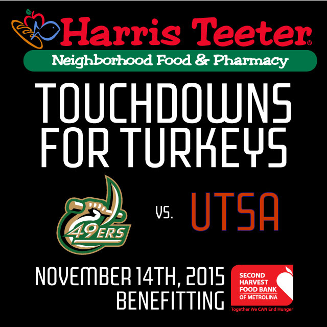 Harris Teeter to Donate 10 Meals for Every 49ers' Touchdown on Nov. 14