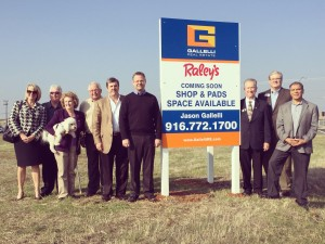 Onsite at the future home of a new Raley's coming to Rancho Cordova (Sunrise Blvd./Douglas Road).