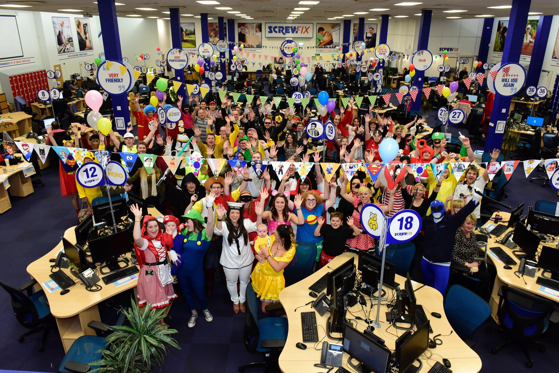 Screwfix took thousands of calls for BBC Children in Need on Friday 13 November