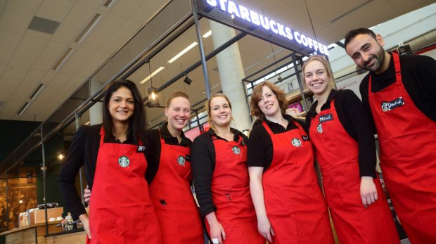 Starbucks Coffee Company and food-service organization Albron open Starbucks branch at the University of Twente campus
