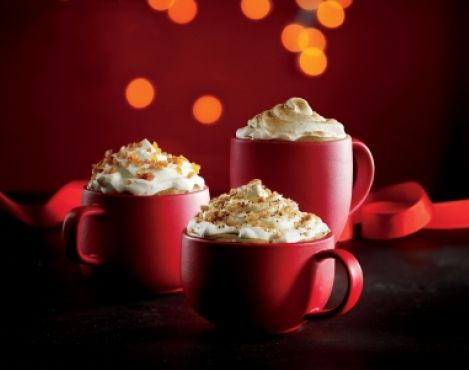 Starbucks seasonal espresso beverages return in their red cups to stores in US and Canada
